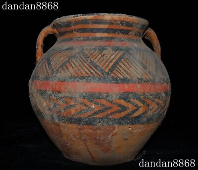 """9""""old Chinese dynasty Tang Sancai pottery porcelain container Tank Crock Pot Jar"""