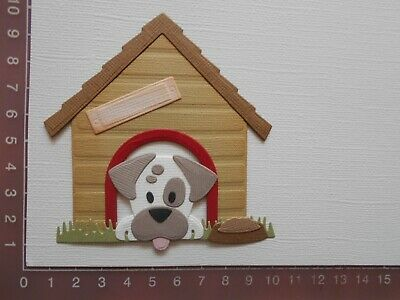 Card Making Die cuts - Dog / Puppy Kennel  Assembled  Lot 3