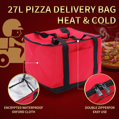 27L Food Delivery Bag Professional Takeaway 15.7Inch Pizza/Burgers/Pies Holds