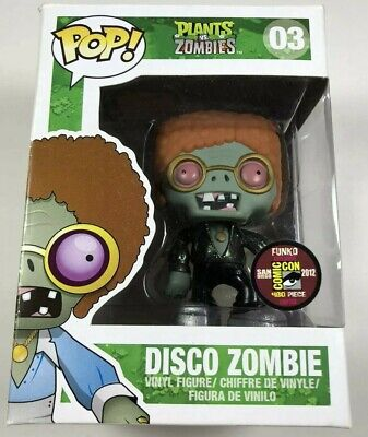 Funko POP Plants vs Zombies - DISCO ZOMBIE METALLIC - SDCC 2012 Comic Con - # 03