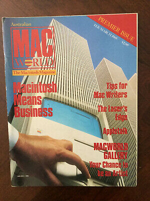 Australian MacWorld magazine Issue 1, 1985 - rare piece of Mac history!