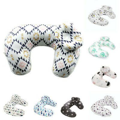 U-Shape Newborn Cotton Print Baby Nursing Head Pillow Cover Slipcover Accessory