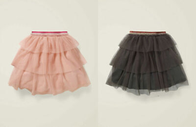 Boden Girls Party Tulle Tiered Tutu Skirt Pink Or Grey Bnwot Ages 2-12