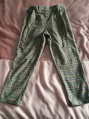 Girls High Waisted Trousers Age 9-10 Years
