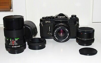 Canon F-1 35mm Film SLR Camera with lens