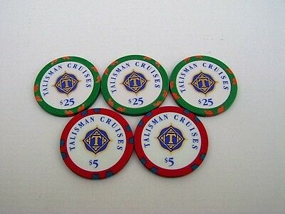 Talisman Cruises Line Casino Poker Chips