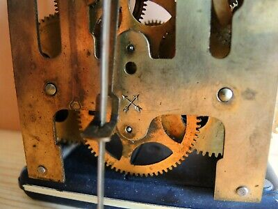 ANTIQUE German Wall Clock MOVEMENT HAC PARTS Restore Gustav Becker GB JUNGHANS