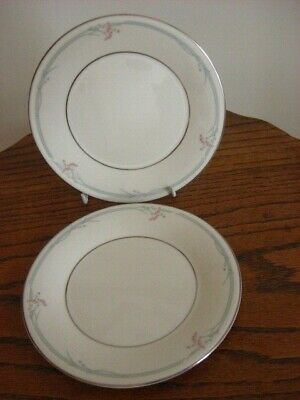 2 X Royal Doulton Carnation Dinner Plates,Firsts