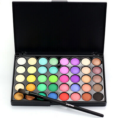New 40Color Makeup Eyeshadow Palette Cream Eye Shadow Shimmer Set Matte Cosmetic