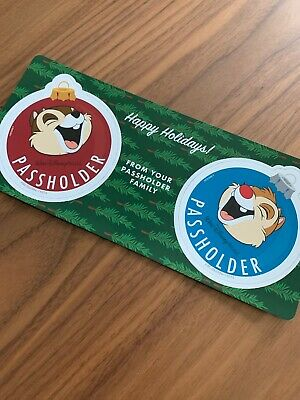 Disney Parks Epcot Holidays Festival 2019 Chip & Dale Annual Passholder Magnets