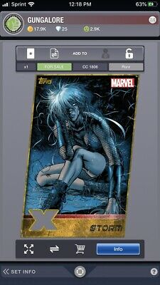 Topps Marvel Collect XMen Weekly Gold Die Cut Storm Digital