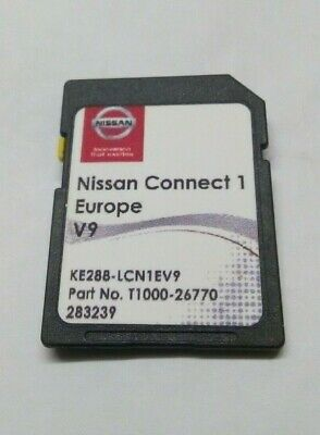 Nissan Connect 1 V9 Latest Sat Nav SD Card 2019 for Qashqai, Juke,Note and Micra