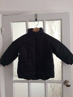 M&S Boys Quilted Puffa Jacket Fleece Lined Age 3-4 Yrs