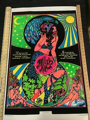 Creation Of Woman Blacklight Poster 23 x 35 NOS Vintage 1973 Vivid Colorful