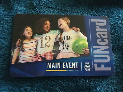 Main Event FunCard Gift Card 250 Credits (about $50)
