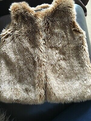 Girls Next Faux Fur Gilet Age 3-4 Years