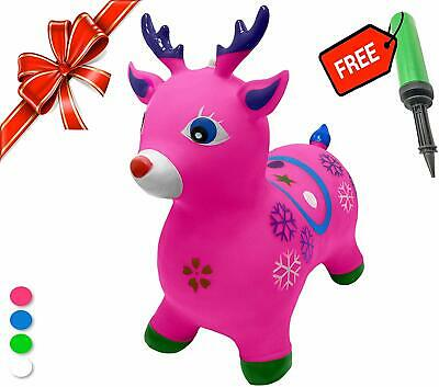 Rides on Animal Bouncy Horse Inflatable Bouncer Jumping Kids Gift Toys LR