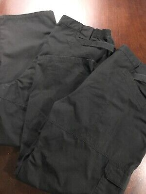 2 511 TACTICAL SERIES Mens Cargo 44X30 Canvas Hiking Outdoors Work Pant Black