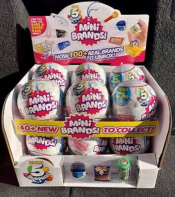 5 Surprise MINI BRANDS Zuru Full Case of 12 Balls with Display Box NEW HTF Five
