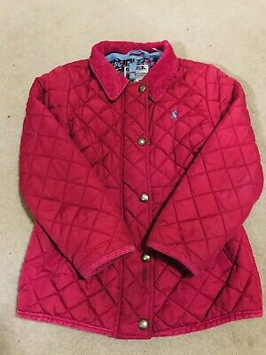 Girls coat age 6 - 7 years Joules girls quilted pink jacket