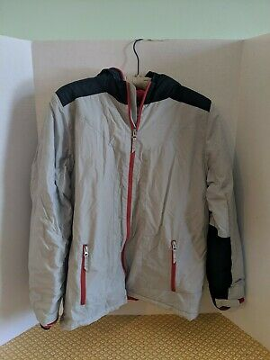 Boys XL Lands End Jacket Gray and Navy