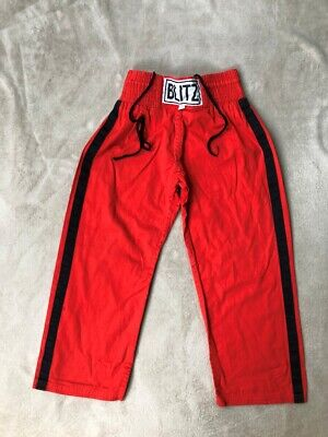 Kids Kickboxing / martial arts trousers, Blitz, Red, size 130 (age 3 - 5)