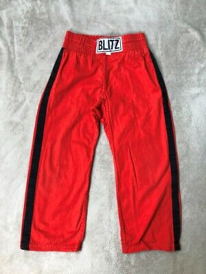 Kids Kickboxing / martial arts trousers, Blitz, Red, size 140 (age 5 - 8)