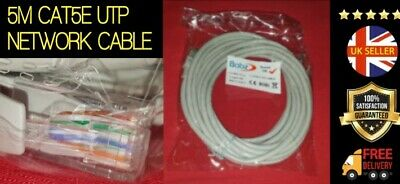 *Fast Uk Delivery* 5M Rj45 Cat5E Utp Network Cable Router Pc Kodi Ethernet