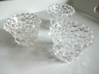 Pair of Glass Ball Tea Light Candle Holders Choice of Colours Shabby Chic