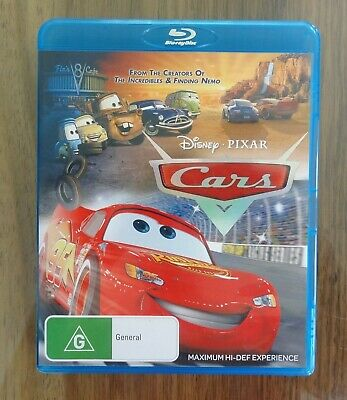 Disney Pixar Cars AUS Blu-ray - AS NEW - Lightning McQueen