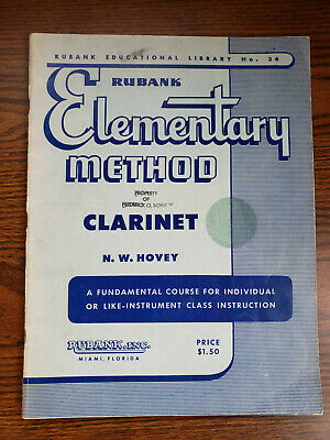 Rubank Elementary Method for Clarinet by N. W. Hovey
