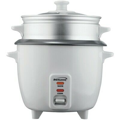 New Brentwood Appliances TS-180S Rice Cooker with Steamer (8 Cups, 500 Watts)