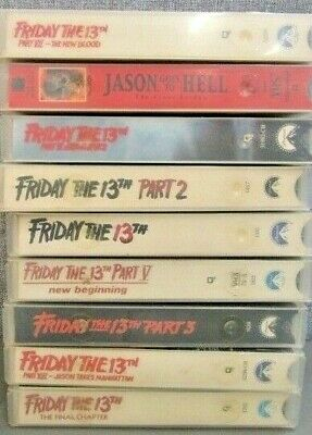 Friday the 13th VHS Lot 1-9 Vintage Horror Cult