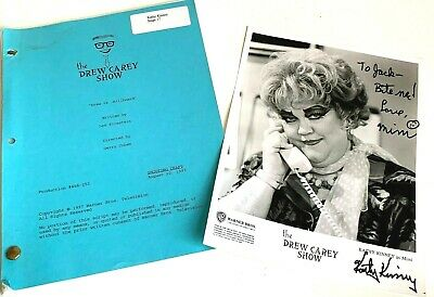 1997 The Drew Carey Show Script Shooting Draft Signed Mimi Picture Kathy Kinney