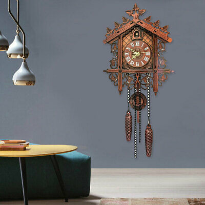 Accessories European Vintage Style Wood Cuckoo Wall Clock Room Swing Decorative