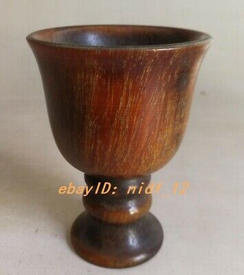 Old EXQUISITE CHINESE 100% OX HORN HAND CARVED CUPS