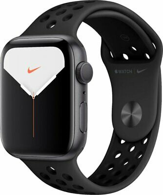 Apple Watch Nike+ Ser 5 (GPS) 44MM SP Gray Case w/Anthracite/BLK Nike SPRT Band