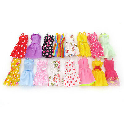 10 Pcs Random Doll Clothes Dresses Fashion Gown Outfit XMAS Gift For Barbie Girl