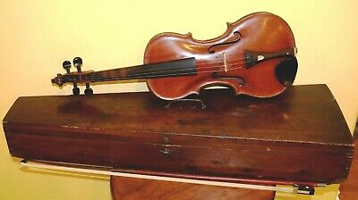 Amazingly Rare Late 1700's 4/4 Violin From Norway Repaired By LARS HOEM In 1829