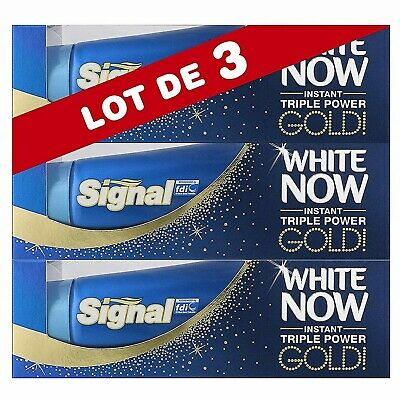 Signal White Now Dentifrice Blancheur- Dents Instant plus Blanches Lot