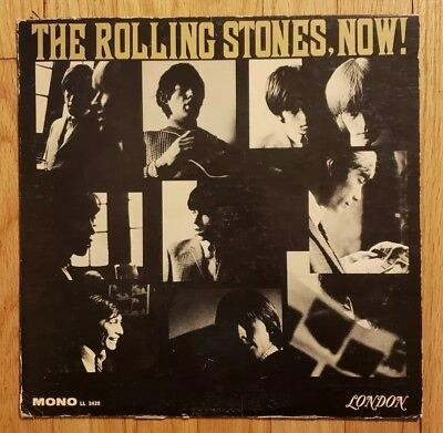 The Rolling Stones Now LP 1965 Maroon Unboxed London Mono LL 3420 Vinyl Record
