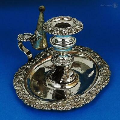 Fabulous GEORGE IV OLD SHEFFIELD PLATE Oval CHAMBERSTICK c1820