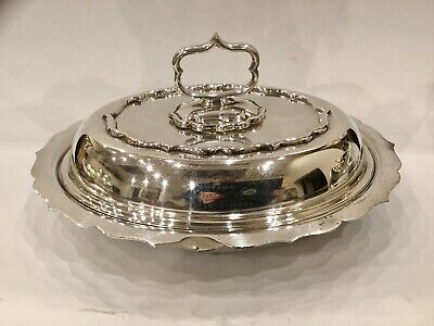 Antique Marples And Co Silver Plated Serving Dish With Removable Handle