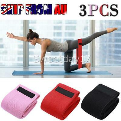 3PCS Resistance Bands Set for Exercise Women Legs Arms Booty Yoga Physio New