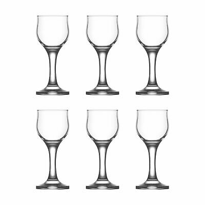 6x Sherry Liqueur Glasses Set LAV Nevakar Glass Stemmed Schnapps Goblets 55ml