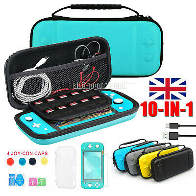 For Nintendo Switch LITE Hard Carry Case Bag+ Cover+ Protector + Charging Cable