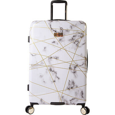 """Juicy Couture Juicy Vivian 29"""" Spinner - Marble Web Hardside Checked NEW"""