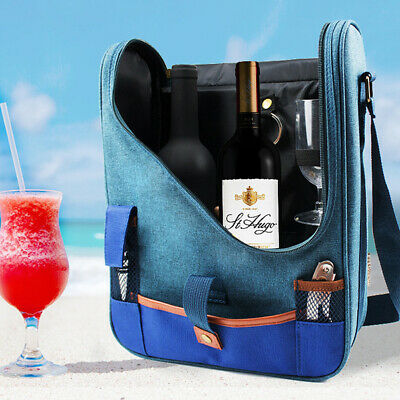 Wine Beer Champagne Fancy Bottles Bag Cooler Bag Travel Picnic Pouch Insulated