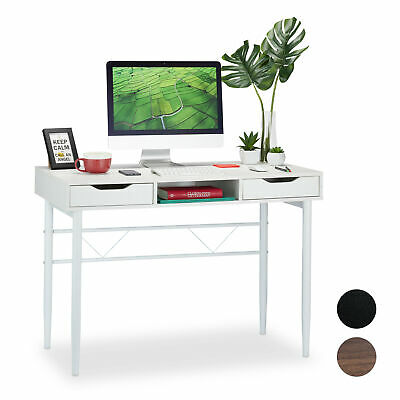 Office Work Desk with Drawers, PC Table Stand, Writing Desk