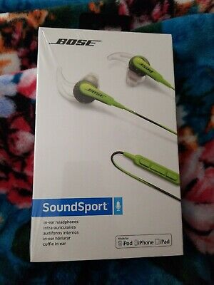Bose SoundSport In-ear Wired Headphones - GreenBrand New
